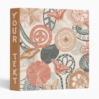 doodle and butterflies 3 ring binder