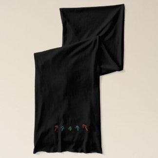 doodle arrows scarf