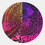 Doodle Art Multi-Color Sticker