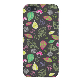 Doodle autumn pattern with mushrooms iphone case iPhone 5 case