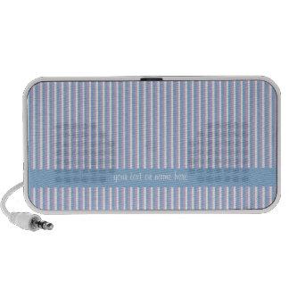 Doodle azul de las rayas blancas azules de la lila iPod altavoz