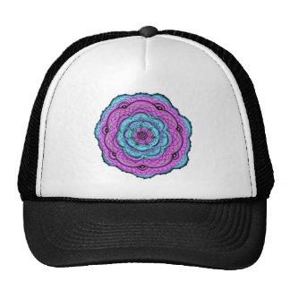 Doodle azul y púrpura de la flor gorra