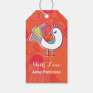 Doodle Bird Personalized Gift Tags Pack Of Gift Tags