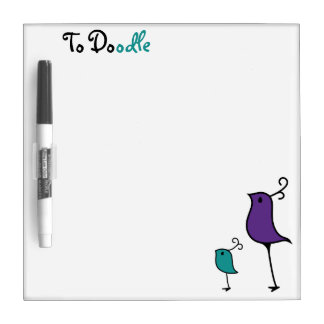 Doodle Board, Purple/Teal 2 Dry-Erase Board
