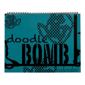 Doodle Bomb Coloring Book Calendar