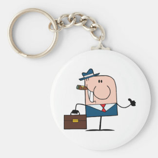 Doodle Businessman Holding A Thumb Up Keychain