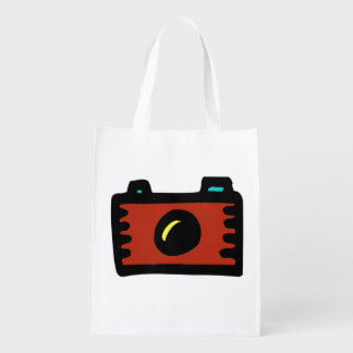 doodle camera wallie wear shopping bags reusable grocery bag