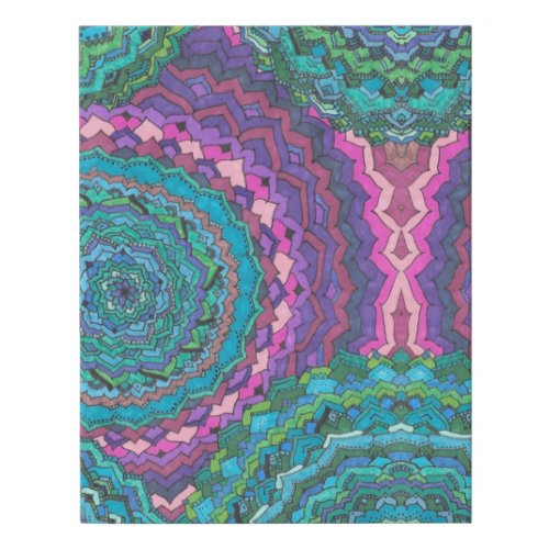 Doodle Canvas - Abstract Blue Wall Art