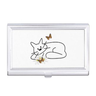 Doodle Cat Business Card Holders