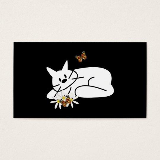 Doodle Cat Fun Business Card
