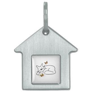Doodle Cat Pet ID Tag