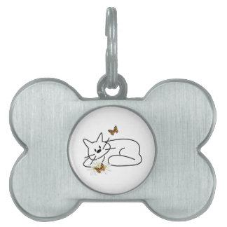 Doodle Cat Pet Tag