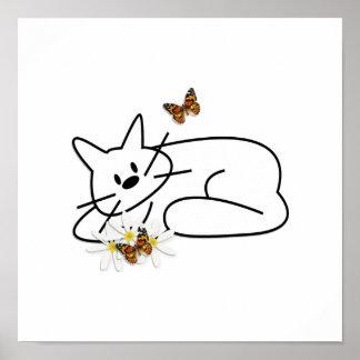 Doodle Cat Poster