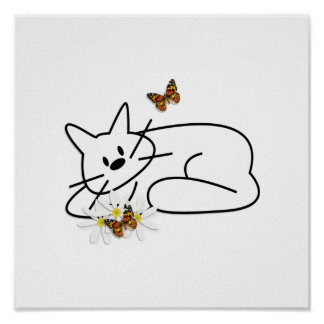 Doodle Cat Print