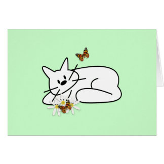 Doodle Cat Stationery Note Card
