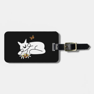 Doodle Cat Tags For Bags