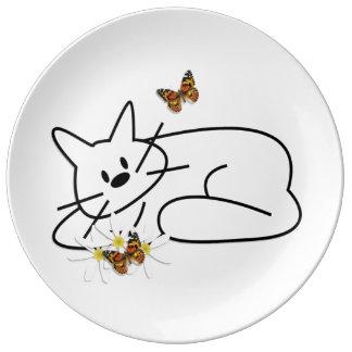 Doodle Cats Porcelain Plate