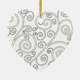 Doodle Ceramic Ornament