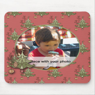 Doodle Christmas Tree Photo Mousepad