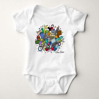 Doodle Cloud Baby Onsie (Color) Baby Bodysuit