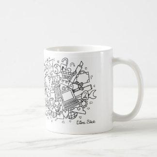 Doodle Cloud (Black & White) Coffee Mug