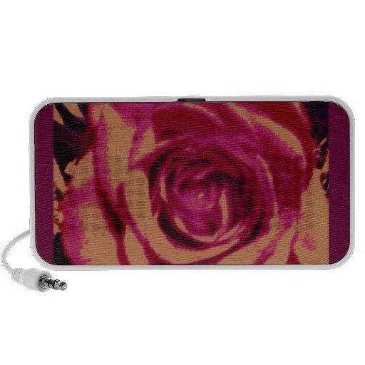 Doodle color de rosa del altavoz