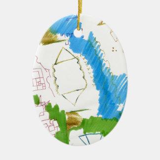 Doodle Dance Christmas Ornament