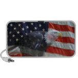 Doodle de Eagle de la bandera americana PC Altavoces