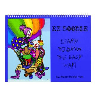 Doodle de EZ - aprenda dibujar el fácil… - Grande Calendario De Pared