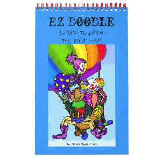 ¡Doodle de EZ - aprenda dibujar la manera fácil! Calendarios De Pared