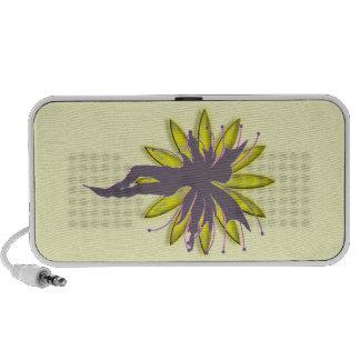 Doodle de hadas del duende de la flor iPod altavoz