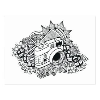 Doodle de la cámara del inconformista tarjeta postal