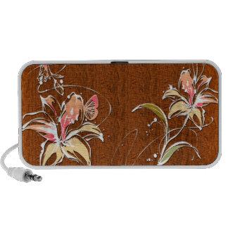 Doodle de la decoración 10 de la flor laptop altavoces
