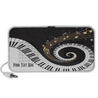 Doodle de la fantasía del piano del teclado iPod altavoces