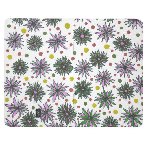 Doodle de la flor cuaderno grapado