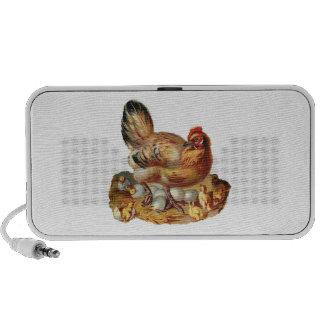 Doodle de la gallina y del pollo de los polluelos portátil altavoces