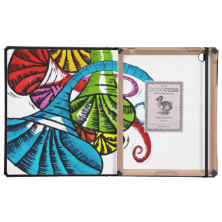 Doodle de la trompeta iPad carcasa