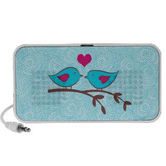 Doodle de los pájaros del amor sistema altavoz