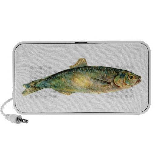 Doodle de los pescados portátil altavoz