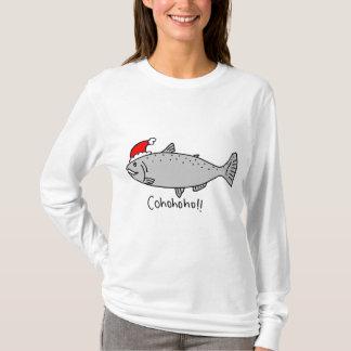 Doodle de los salmones del navidad de Cohohoho Playera