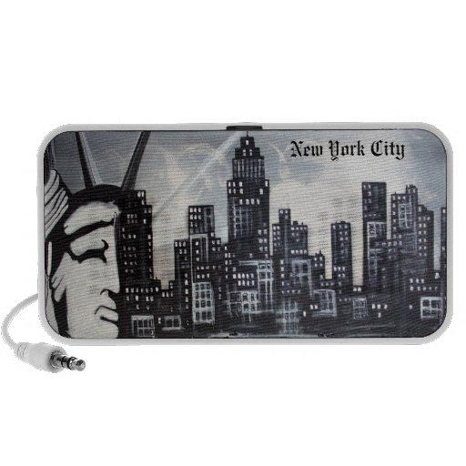 Doodle de New York City Laptop Altavoz