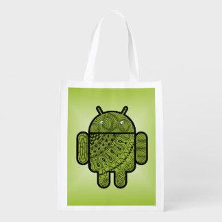 Doodle de Pancho para Android™ Bolsas Reutilizables