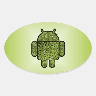 Doodle de Pancho para Android™ Calcomanías Ovaladas
