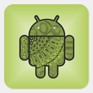 Doodle de Pancho para Android™ Calcomania Cuadradas Personalizada