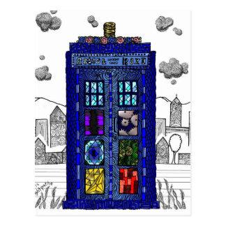 Doodle de una caja de llamada de policía de la caj