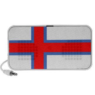 doodle del altavoz de la bandera de país de Faroe
