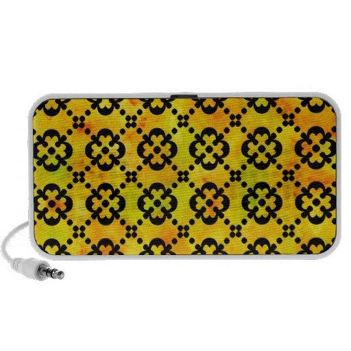 Doodle del amarillo de la fruta cítrica notebook altavoz