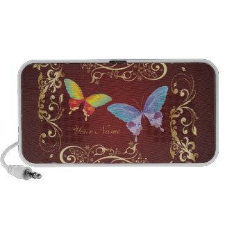Doodle del arte 1 de la mariposa laptop altavoces