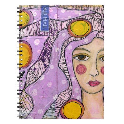 doodle del arte, cubierta del cuaderno del bosquej