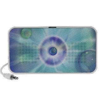 Doodle del azul de océano de la luz de la lava del laptop altavoces